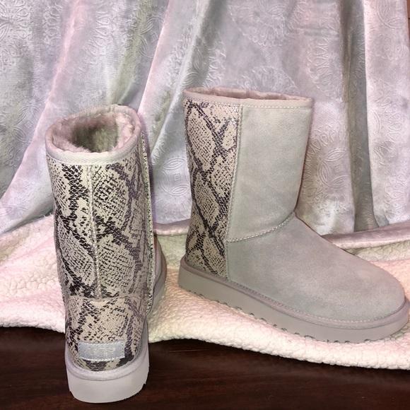 Ugg Classic Short Metallic Snake Boot